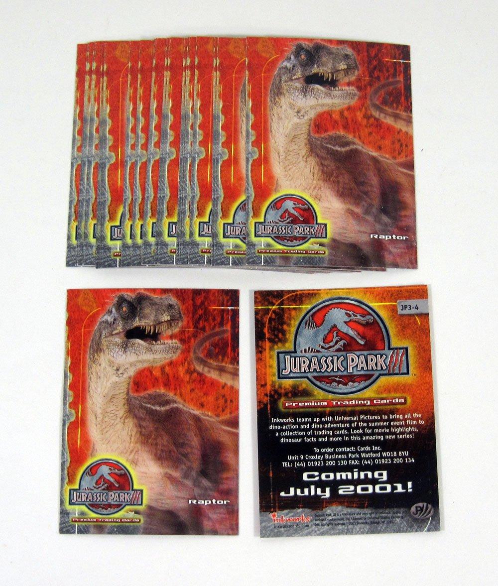 Lot of (25) 2001 Inkworks Jurassic Park 3 3D Promo Card (JP3-4) Nm/Mt