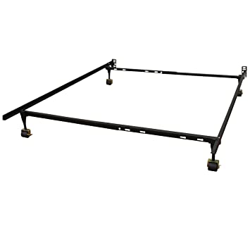 classic brands hercules standard adjustable metal bed frame with locking rug rollers