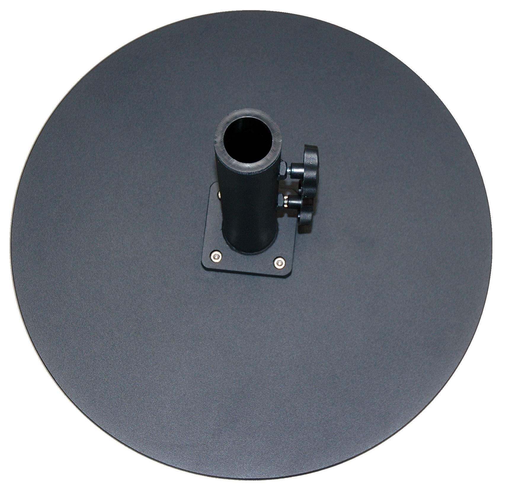 Tropishade Commercial Grade Steel Plate Umbrella Base, Black, 50 lbs