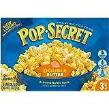 Pop Secret Popcorn, Double Butter, 3-Count Box (9.6 oz)