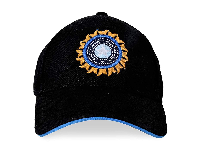 Free Size BCCICAPBLACK IPL Supporter T20 Mens Cotton Sports Casual Cricket Cap Team India ODI