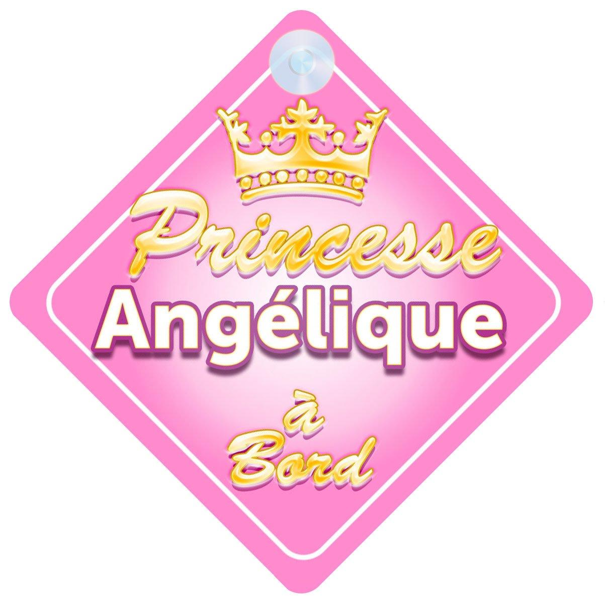 Couronne Princesse Angélique Signe Pour Voiture Enfant/Bébé à Bord Quality Goods Ltd