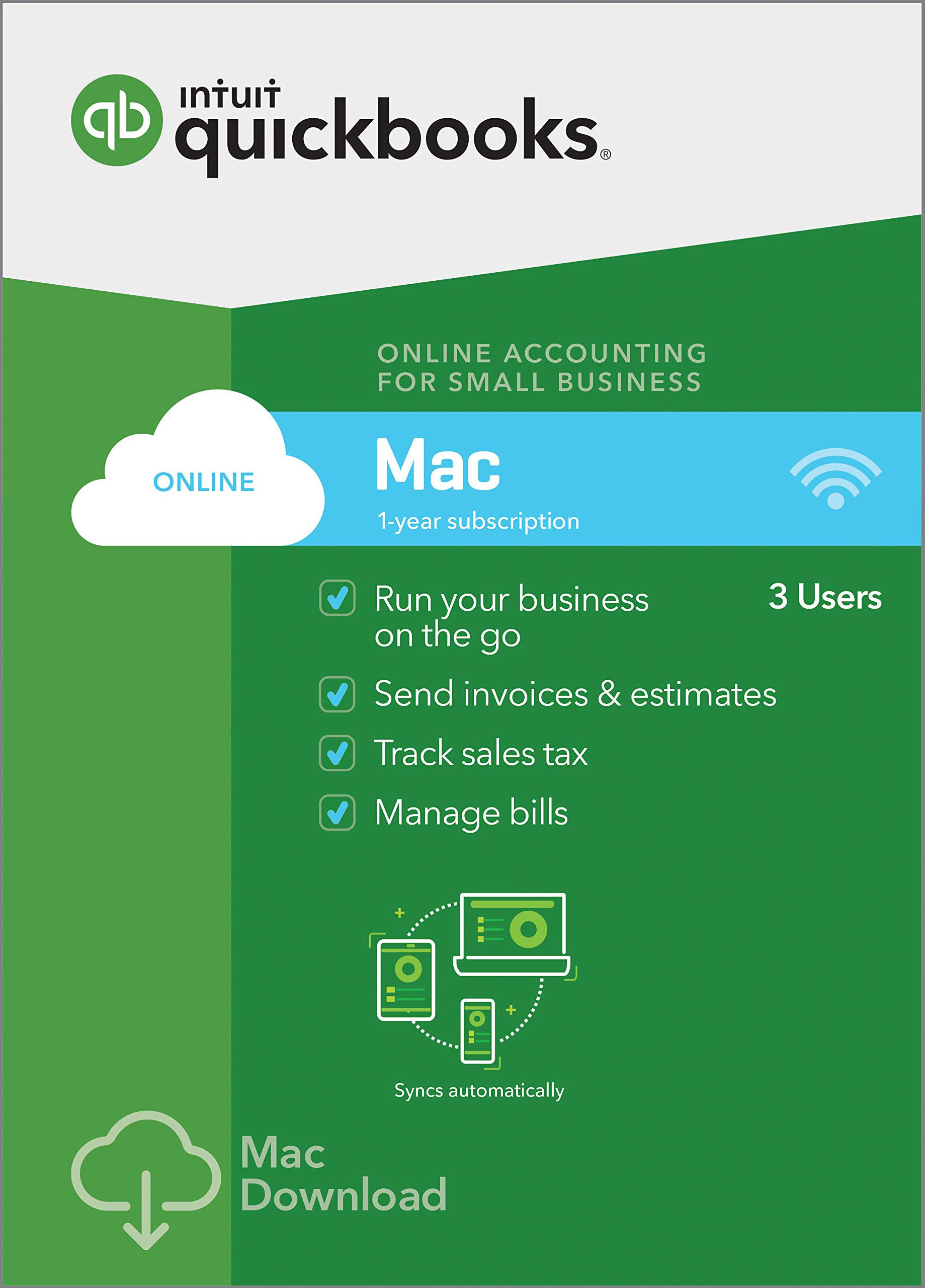 QuickBooks Online Mac 2019, 1 Year Subscription [Online Code] [Mac Download] by Intuit
