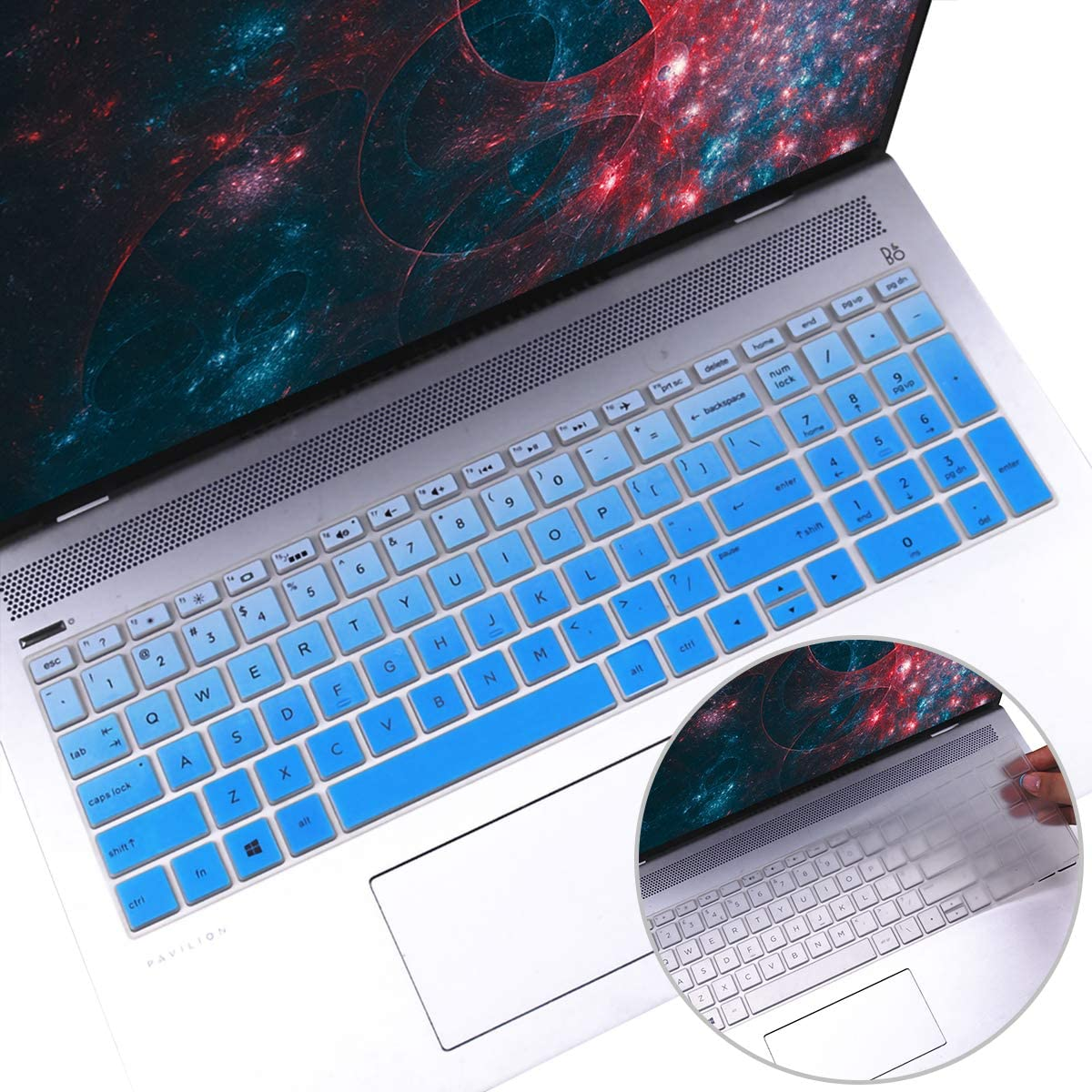 2Pcs Keyboard Cover for 2019 2018 15.6