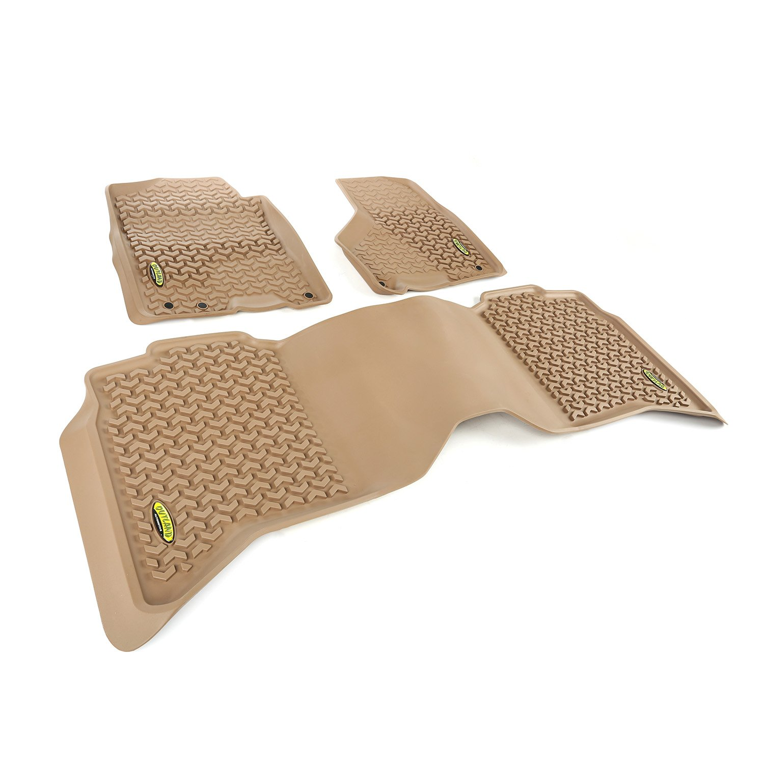 Outland 398395311 Tan Second Row Floor Liner For Select Dodge Ram Ram 1500 2500 and 3500 Models
