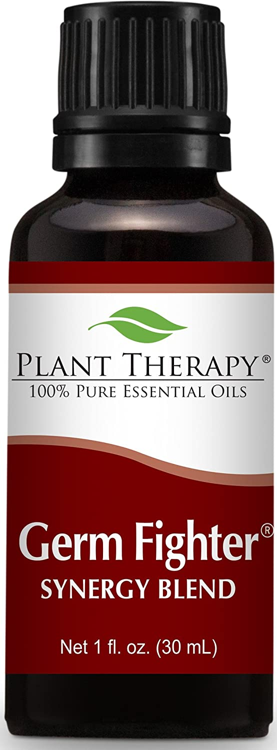 Plant Therapy Germ Fighter Synergy Pre-Diluted Essential Oil Roll-On 10 mL (1/3 oz) 100% Pure, Therapeutic Grade Plant Therapy Inc