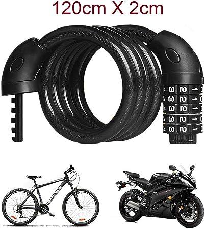 Cadena Candado para Moto Bicicleta Cable de 120 X 2cm combinación ...