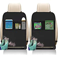 Kick Mats with Organizer - 2 Pack Backseat Protector Seat Covers for Your Car, SUV, Minivan or Truck Seats - Vehicle…