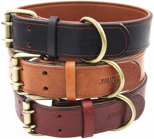 Moonpet-Soft-Padded-Real-Genuine-Leather-Dog-Collar---Best-Full-Grain-Heavy-Duty-Dog-Collar