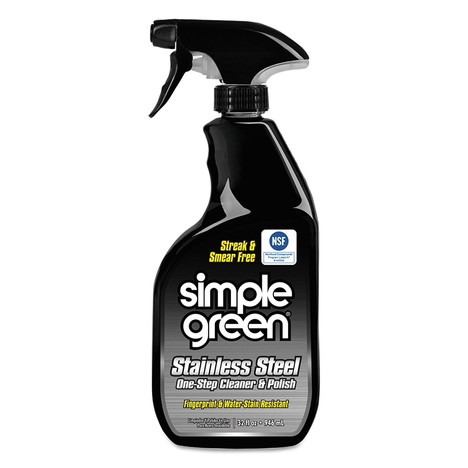 Simple Green 18300CT Stainless Steel One-Step Cleaner & Polish, 32oz Spray Bottle (24 pack)