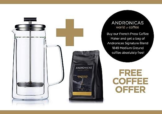 Prensa francesa Cafetera espresso y tetera con triple filtro émbolo de acero inoxidable Cafeteras de émbolo 800 ml