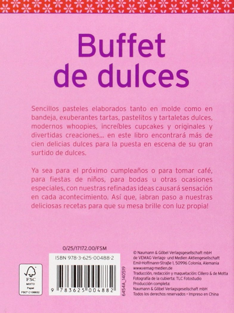 BUFFET DE DULCES - MINI LIBROS NGV: 4882: 9783625004882: Amazon.com: Books