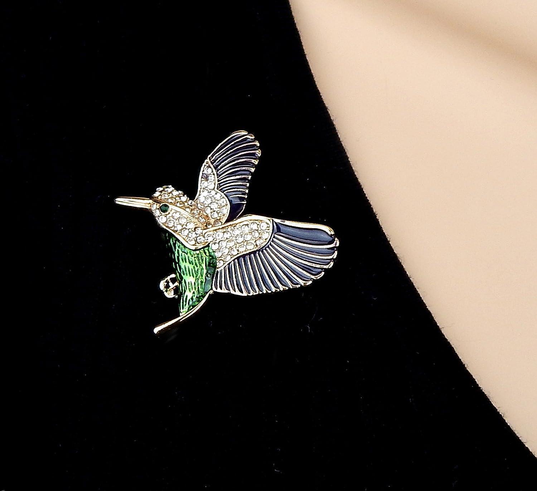 Brosche Vogel Kolibri gold grün schwarz Strass Ella Jonte Ziernadel   Amazon.de  Schmuck 1b8fee43ed