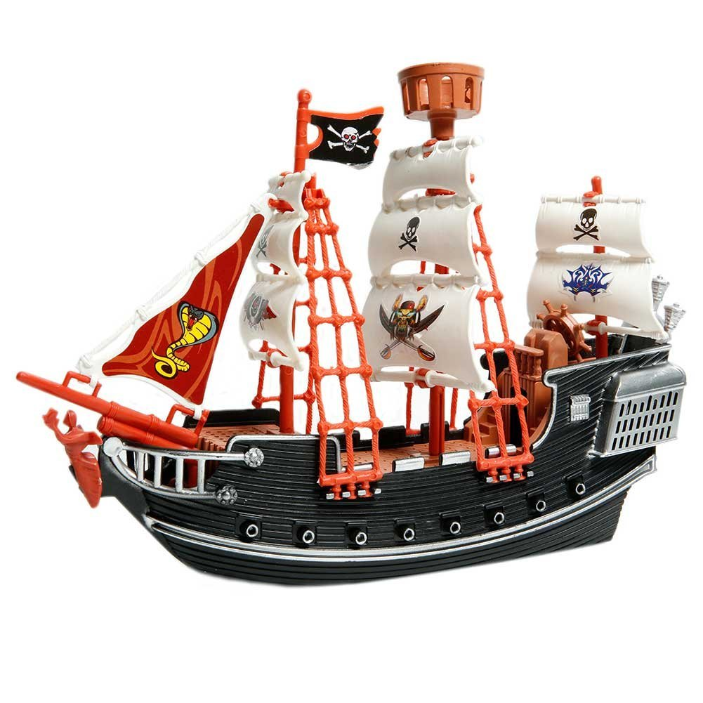 Toys Treasure Boat : Deluxe detailed toy pirate ship