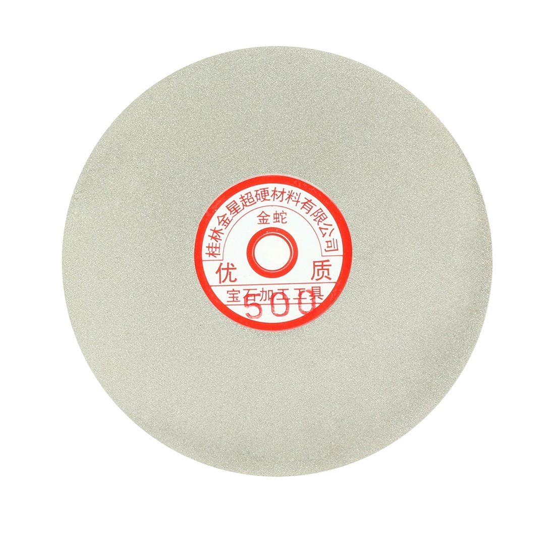 Sourcingmap 6-inch Grit 500 Diamond Coated Flat Lap Wheel Grinding Sanding Polishing Disc a17030900ux1371