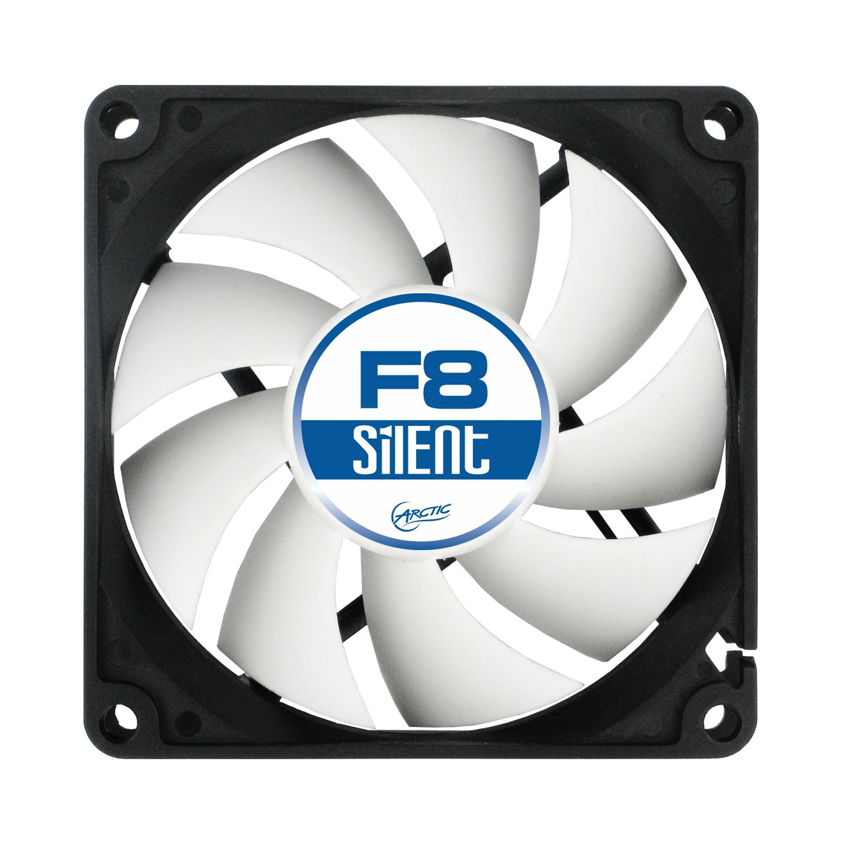 ARCTIC F8 Silent, 80 mm 3-Pin Fan with Standard Case and Higher Airflow, Quiet and Efficient Ventilation by ARCTIC (Image #2)