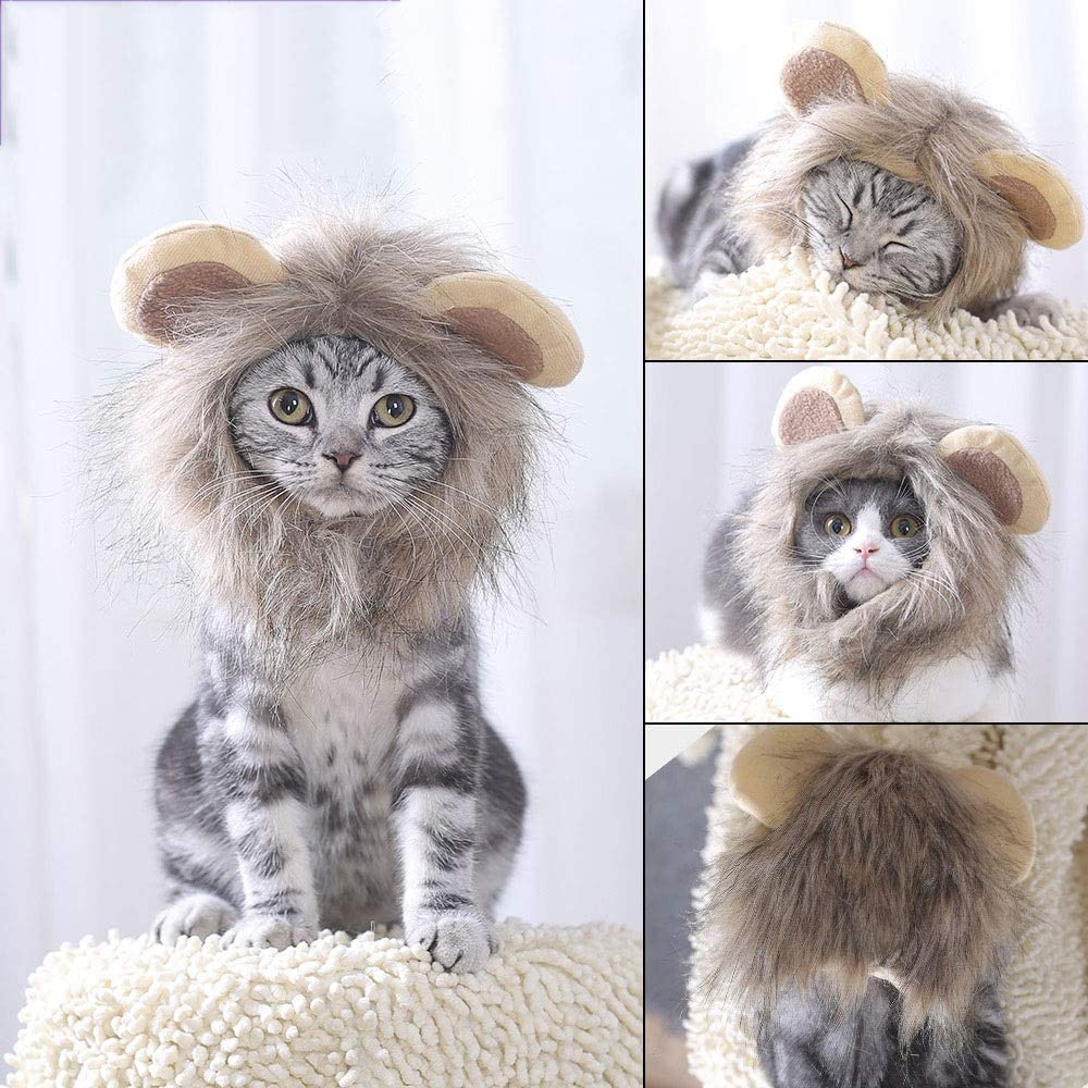 Fighrh Pet Dog Lion Cub And Cat Lion Headdress Lion Mane Wig Puppy Costume Halloween Christmas Easter Holiday Party Event Small Dog Medium Large Dog Wig Headdress
