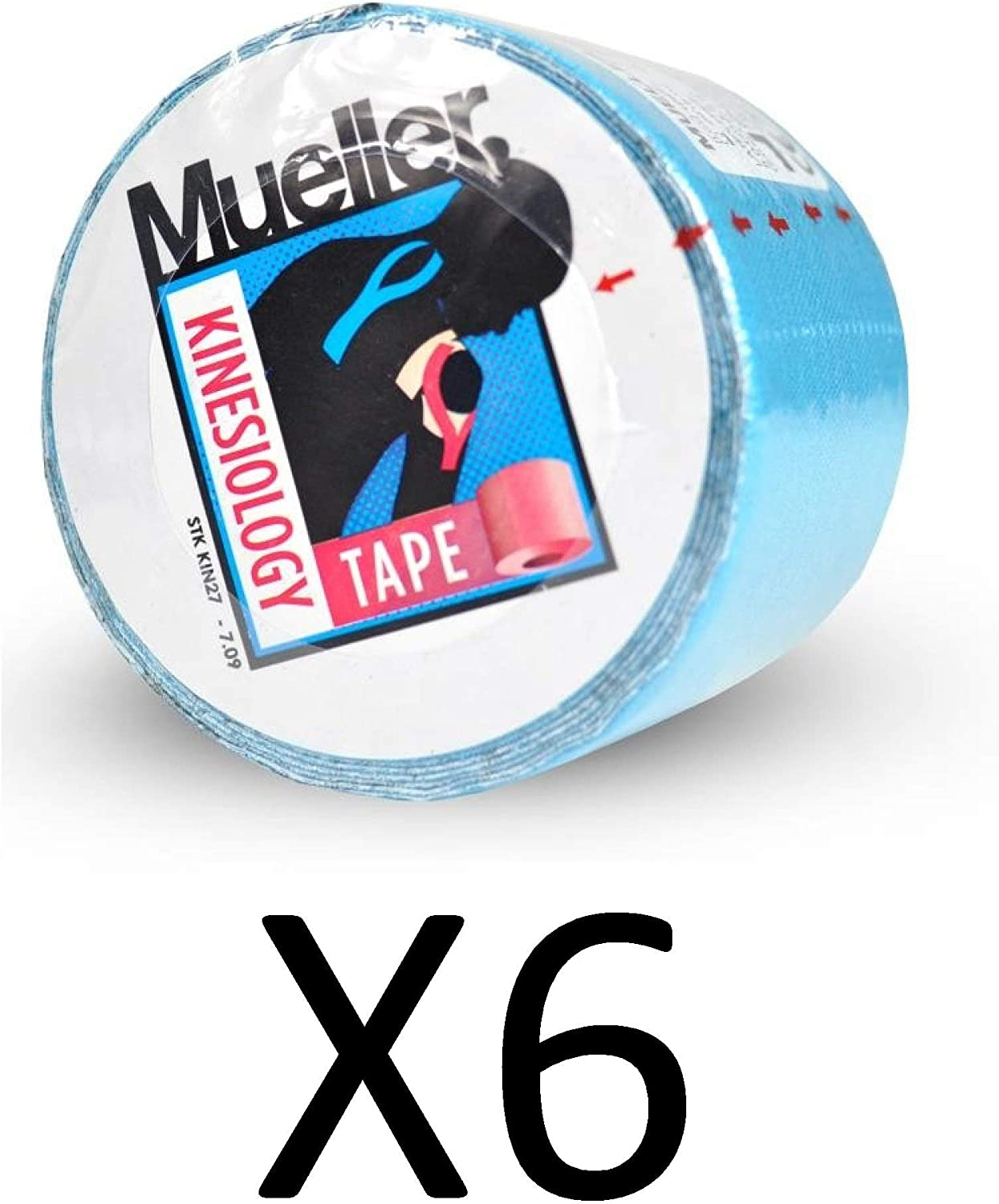 Mueller Blue Kinesiology Tape 2 inch - Box of 6 Rolls: Sports & Outdoors