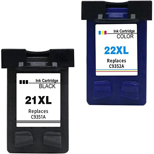 Ink Seller 2 Cartuchos de tinta Compatible para HP 21 XL HP ...