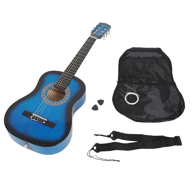 1/2 Akustik Gitarre Klassik Konzertgitarre Blau Schwarz mit Zubehörset ts-ideen 5315