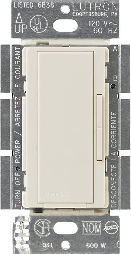 lutron ma-r-la maestro companion dimmer, light almond - wall dimmer  switches - amazon com
