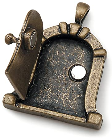 Fairy Door Metal Charm 1/Pkg Antique Bronze Dome
