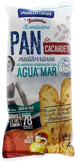 Palitos de pan de cacahuetes Mediterránea, bolsa de 90 gramos, elaborados con agua de