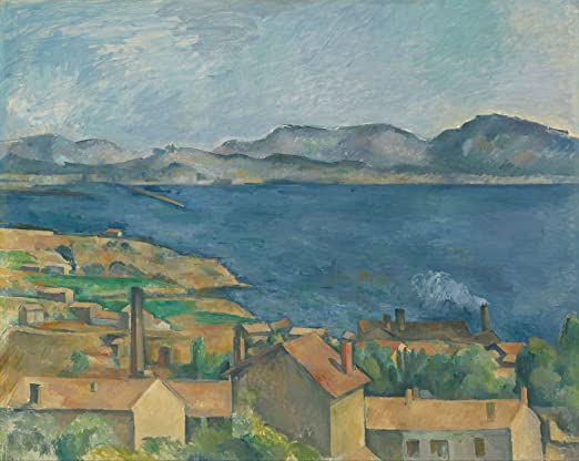 Paul Cezanne The Bay of Marseilles Seen from LEstaque Giclee Paper Print Poster
