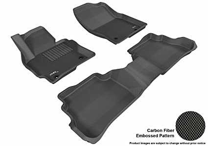 53730cec7a4 3D MAXpider Complete Set Custom Fit All-Weather Floor Mat for Select Mazda  CX-5 Models - Kagu Rubber (Black)