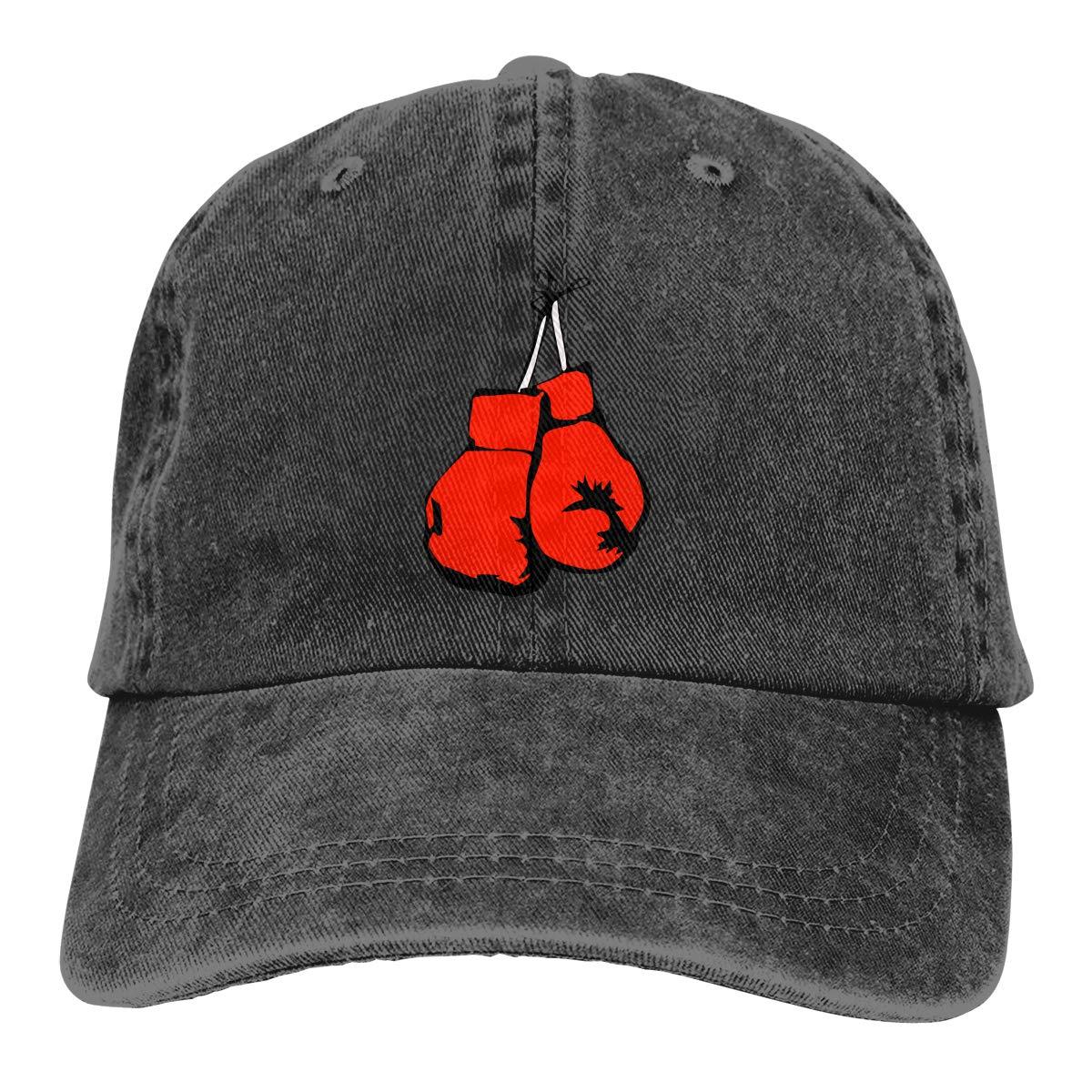 Qbeir Adult Unisex Cowboy Cap Adjustable Hat Boxing Fight Cotton Denim