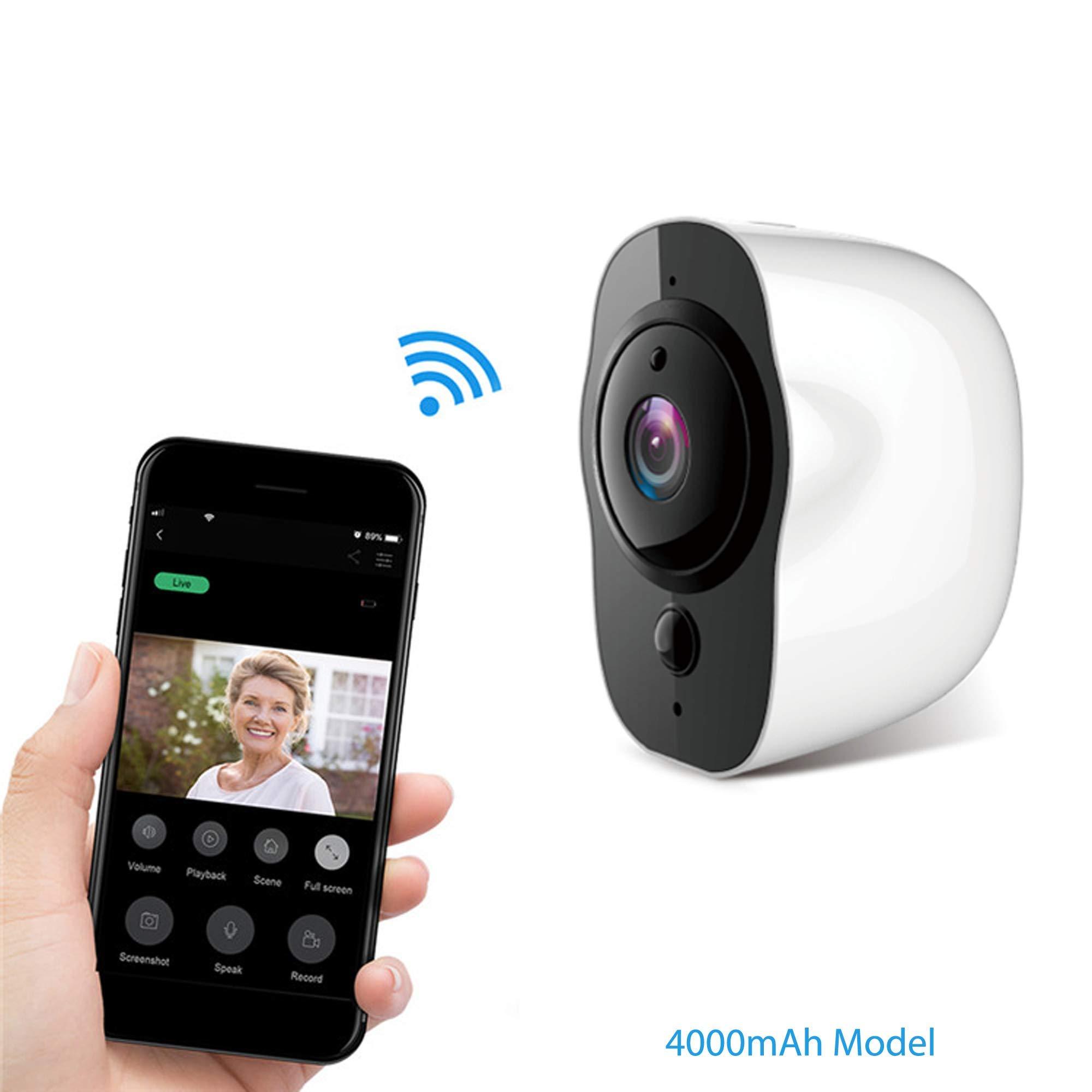 Zeus CCTV Outdoor 1080P WiFi Battery Powered Pod Camera Home Security Surveillance Mobile Smart Device (Low Power Consumption) by Zeus CCTV
