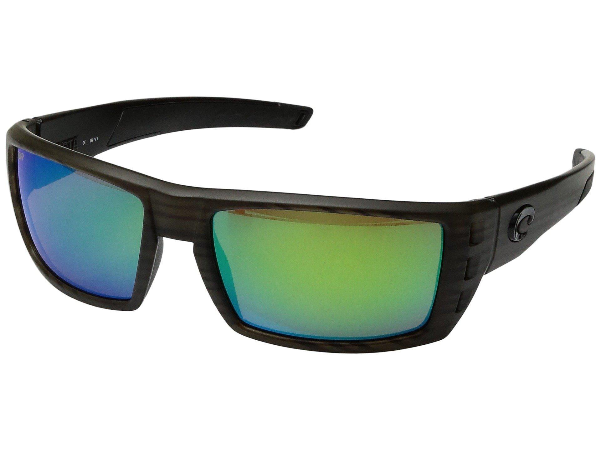 Costa Del Mar Rafael Sunglasses, Olive Teak, Green Mirror 580 Plastic Lens by Costa Del Mar