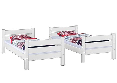 Etagenbett Für Erwachsene 100 Kg : Erst holz etagenbett für erwachsene weiß nische