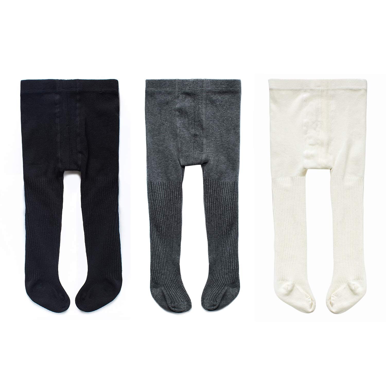 Arctic Penguin PANTS ベビーガールズ Small (3 Pack, Black/Grey/White) B07K477QYL