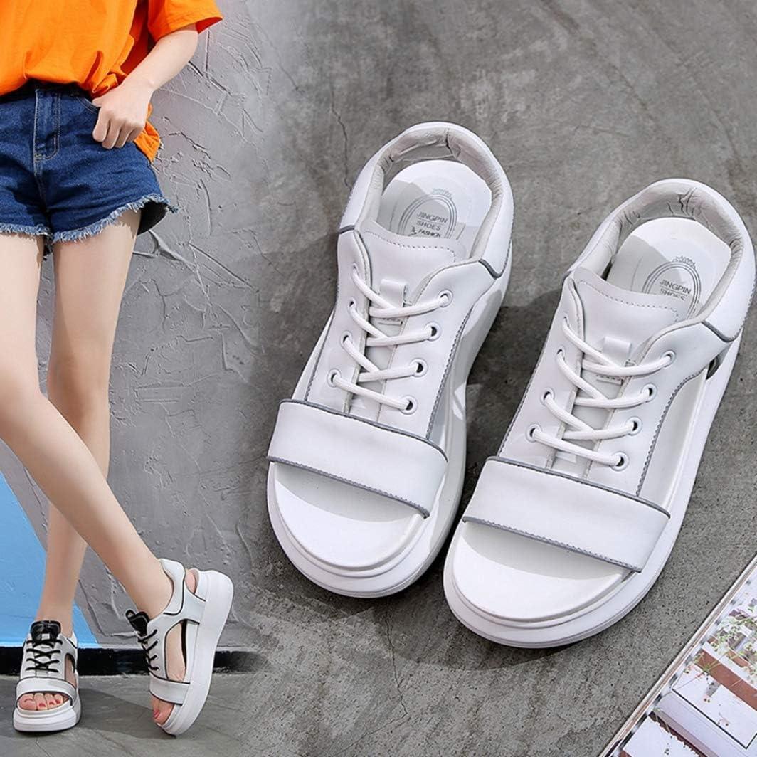Sandalen Frauen Sommer Outdoor Weiße Schuhe Dicker Boden