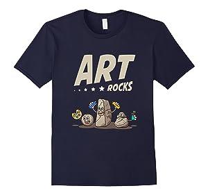 Men's FUNNY ART ROCKS T-SHIRT School Artist Student Lovers Gift XL Navy