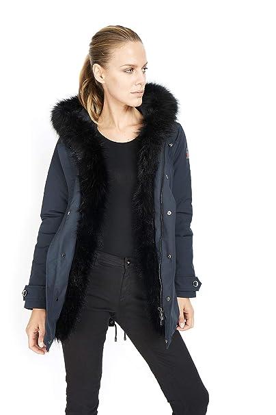 Dakota - Mujer Esquimal Fox - Parka Hood Abrigo de Piel ...