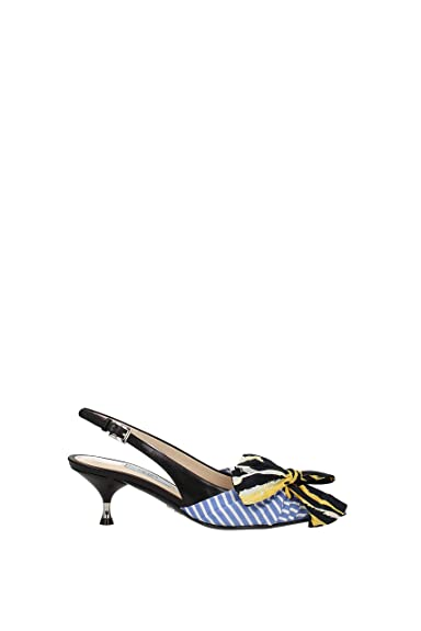 978b2d7c9 Prada Sandals Women - Leather (1I690ISTRIGHEVITELLAZZURRO) 7 UK ...