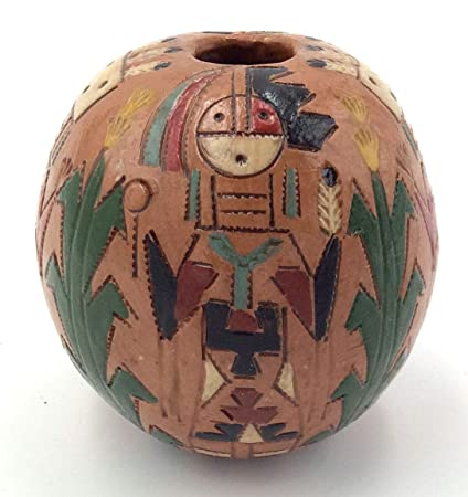 a6aa0bede2 Amazon.com  Palms Trading Co Authentic Handmade Navajo Pottery Bowl ...