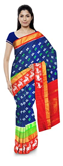 Chennakeshavulu Ikkat Pochampally Silk Saree (Ce19_Multi-Coloured)
