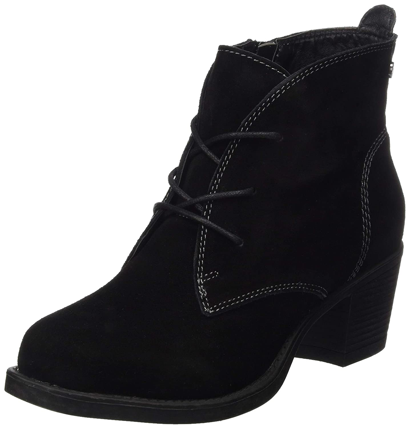 - Hush Puppies Womens Moscow Laced Heel Boot Black Size UK 4 EU 37