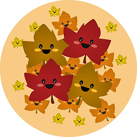 Amazon Com Shinobi Stickers Cute Sweet Autumn Fall Maple Leaves Cartoon Emoji Bunch Vinyl Sticker 12 Wide Automotive