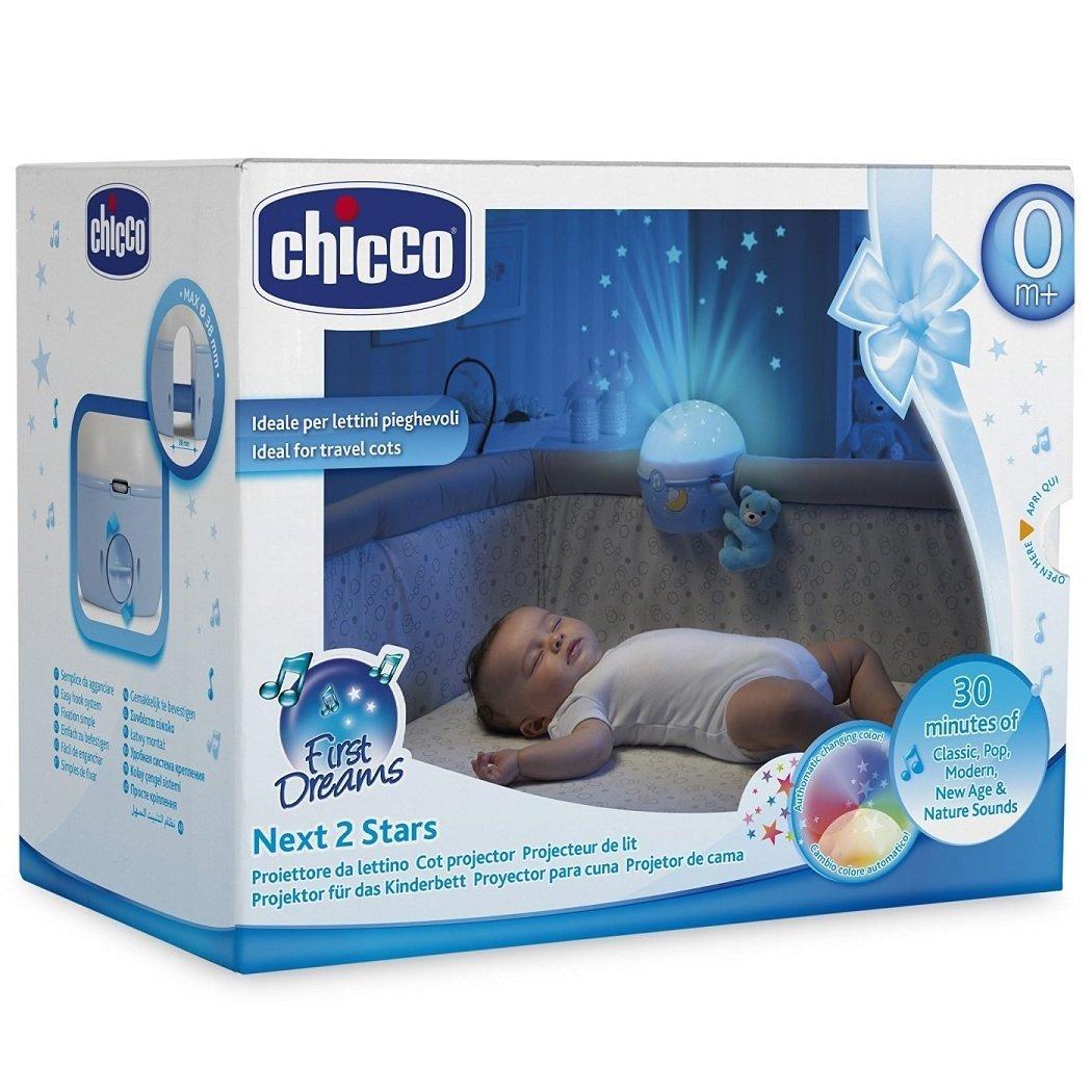 Chicco Next 2 Stars Projecteur de lit pour berceaux et lits de voyage Bleu