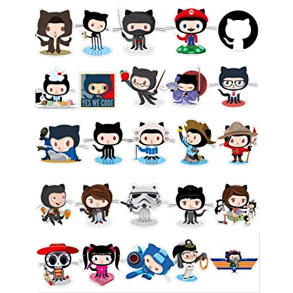 Github Laptop Stickers Pack for Developer [25PCS] Programming Stickers of  Front-end dev,Back-end Languages Stickers for Programmers Hackers Engineers