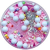 Slime Transparent Pas Cher Avec Fruit Bleu Perle Paillette Rose De Base Pour Slime Colle Transparente Slime En Solution Liquide (Pink)