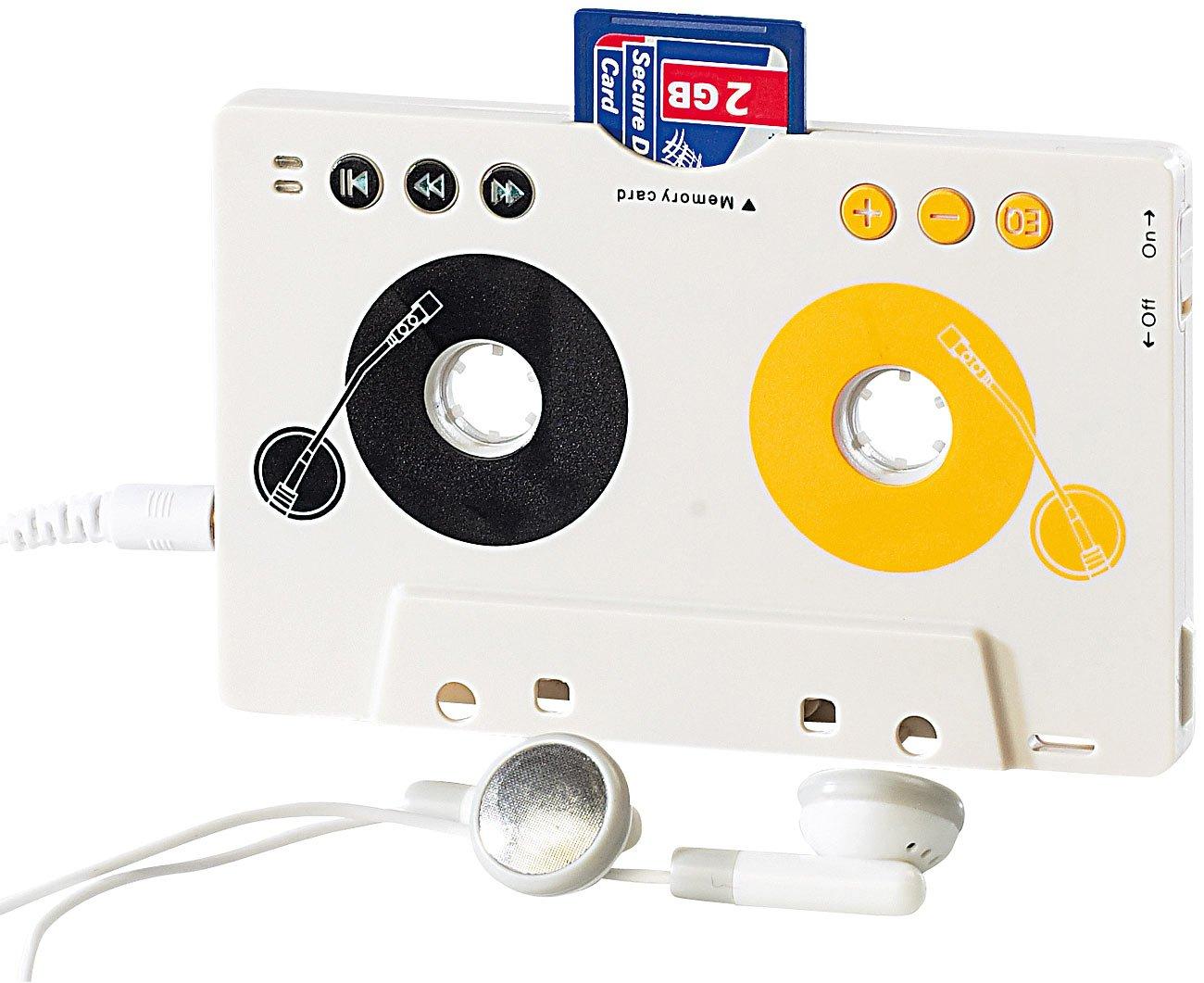 auvisio Kassetten Adapter USB: MP3-Player fü r Kassettenautoradio, Kassettenadapter mit Fernbedienung (MP3 Kassette) PX-2706