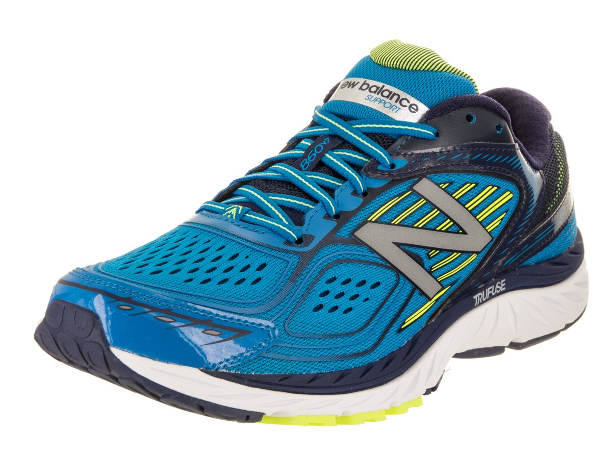 New Balance Men's M860BY7 Running Shoes B01LXGIEJE 13 D(M) US|Blue/Yellow