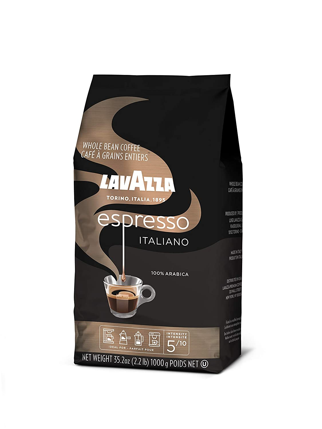 Lavazza Espresso Italiano Whole Bean Coffee Blend Medium Roast 2 2 Pound Bag Packaging May Vary Amazon Com Grocery Gourmet Food