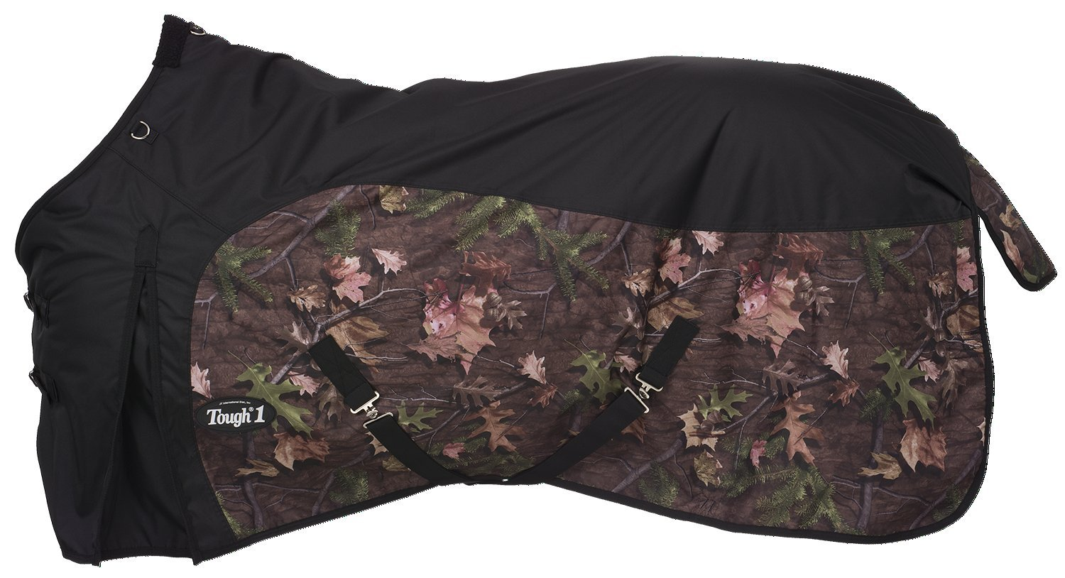 Tough 1 Timber 600D Waterproof Poly Turnout Blanket, Black, 81'' by Tough 1 (Image #1)
