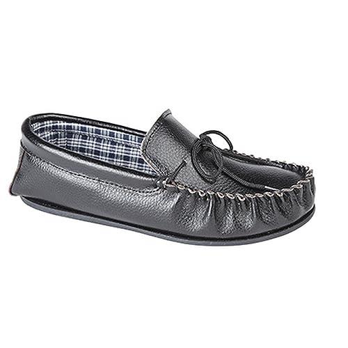 Mokkers Mocasines de Cuero Modelo Oscar Para Hombre: Amazon.es: Zapatos y complementos